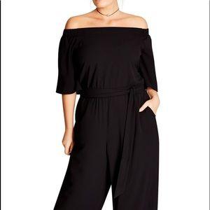 NWT City Chic Plus Size Off-The-Shoulder Jumpsuit